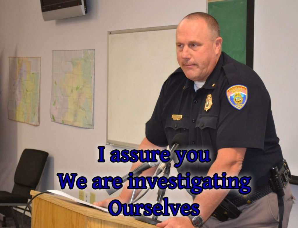We are investigating ourselves - Chief Marchand